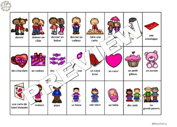 Qui suis-je? La Saint-Valentin (FRENCH Guess Who Valentine's Oral Language Game)