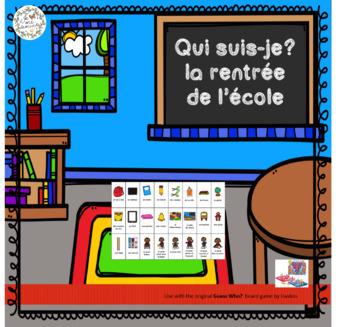 Qui suis-je? La rentrée (FRENCH Guess Who Family Oral Language Game)