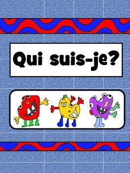 Qui suis-je? –Who am I? –Monster Match Game-Le Corps Vocabulary