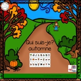 Qui suis-je?-automne (FRENCH Guess Who Fall Oral Language Game)