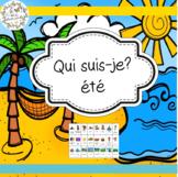 Qui suis-je?-été (FRENCH Guess Who Summer Oral Language Game)
