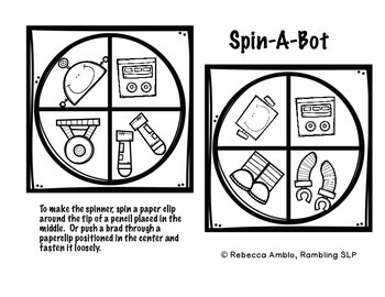 Quick 10 Probe Plus:  Build A Robot Reinforcer and Spinner Game