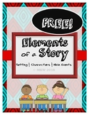 FREE! Elements of a Story Practice (Setting, Characters, M