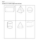 Quick 3D shape assessment/activity