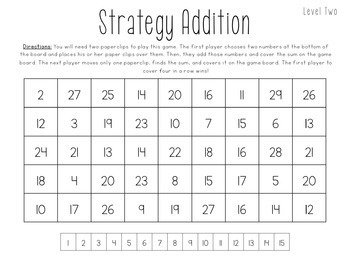 Addition & Subtraction NO PREP Games Basic Facts & 2-3 Digit
