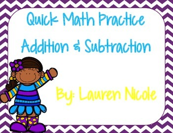 Quick Addition and Subtraction Facts
