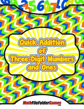 Quick Addition of Three-Digit Numbers and Ones {Mental Math Activity}