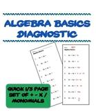 Quick Algebra Basics Diagnostic