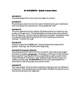 Quick Alphabet (Alfabeto) Games / Activities