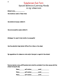 Substitute Teacher Forms - Quick and Easy!