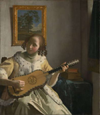 Quick Art lesson in Charcoal : Jan Vermeer outline of The