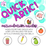 Quick Artic! Articulation Cards for Quick Trials and Baselines!
