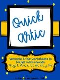 Quick Artic - Initial Sounds