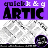 Quick Artic K and G