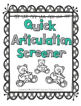 Quick Speech Therapy Articulation Screener