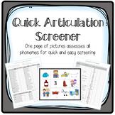 Quick Articulation Screener