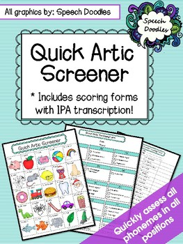 Quick Articulation Screener - Informal Articulation Assessment - Screening