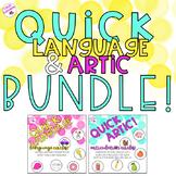Quick Articulation and Language Cards BUNDLE!