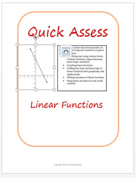 Quick Assess: Linear Functions