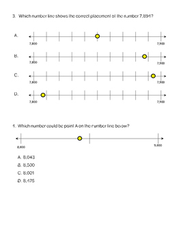 Quick Assessment 3.2C Locating Relative Position on a Number Line