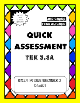 Quick Assessment 3.3A - Representing Fractions with Denomi