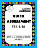 Quick Assessment 3.4A - One-Step and Two Step Problems(Addition and Subtraction)
