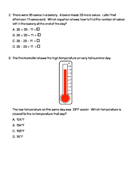 Quick Assessment 3.5A-Represent Problems(Addition and Subtraction)