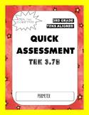 Quick Assessment (TEK 3.7B) Perimeter