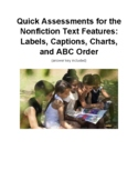 Quick Assessments for the Nonfiction Text Features:  Label