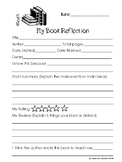 Quick Book Reflection Sheet