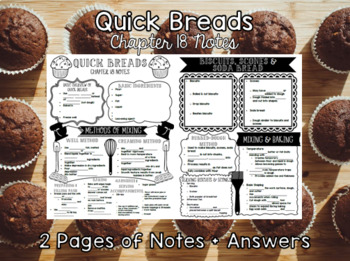 Quick Breads (Chapter 18) Notes + Answers for Intro to Culinary