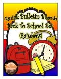 "Quick Bulletin Boards--Back To School ""Rainbow"" Set  (Classroom Decor)"