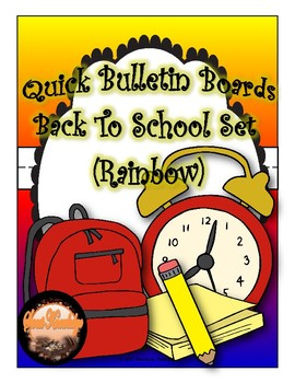 "Quick Bulletin Boards--Back To School ""Rainbow"" Set  (Classroom Decor)"