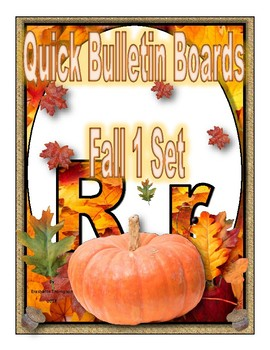 Quick Bulletin Boards--Fall 1 Set  (Classroom Decor)