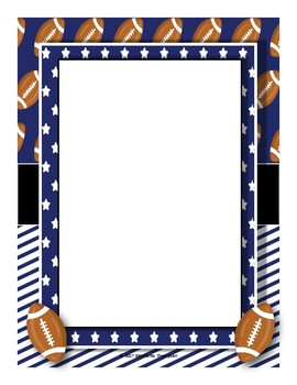 Football Themed Classroom Decor Set (Blue)--Quick Bulletin Boards
