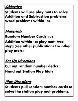 Quick Centers and Stations Second Grade Math Two Step Addition