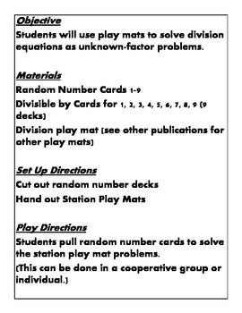 Quick Centers and Stations for Third Grade Common Core Math