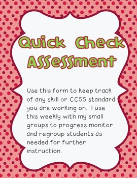 Quick Check Assessment