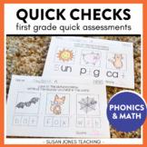 Common Core Assessments for 1st Grade: Quick Checks