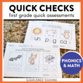 Common Core Assessments for 1st Grade: Quick Checks