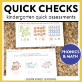 Quick Check Common Core Assessments for Kindergarten