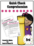 Reading Comprehension, Third grade, Reading passages, leve