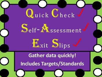Quick Check       Exit Slips      Self-Assessment