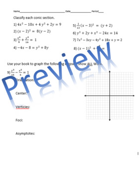 Quick Check: Hyperbola Graphing