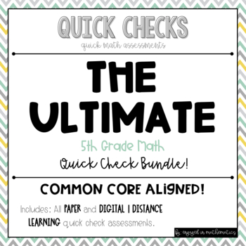 Quick Checks (5th Grade Common Core Aligned Assessments) -- BUNDLE!