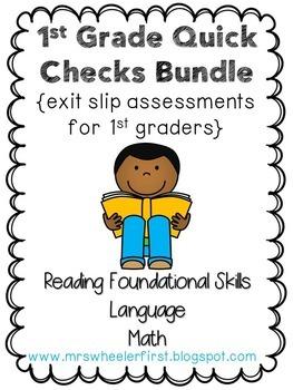 First Grade Exit Slips Bundle