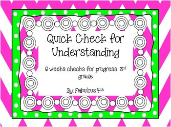 Quick Checks for 3rd Grade {Pre-tests to guide intervention}