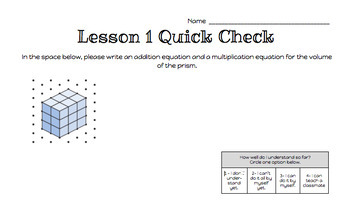 Grade 5 Math Exit Tickets (Quick Checks for use with Ready Math Grade 5)