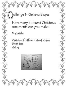 Quick Christmas STEM