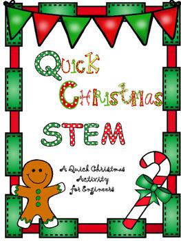 Quick Christmas STEM- Christmas Tree